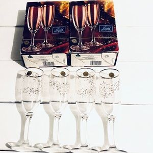 Other - 4 Cristal Champagne flutes